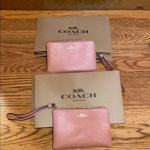 Two Coach Wristlets Pink NWT